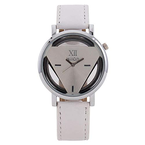 Powzz ornament Triangle Skeleton Watch Triangle Watch Lady Personalized Glass Belt-Leucorrhea