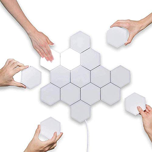 CYHY Splicing LED Smart Light, Wandleuchte Hexagonal, Panels A helle LED for eine Wand-Beleuchtung for Innen, Modular-Touch Sensitive Lichter Wabe Dekorative (Size : 8piece)