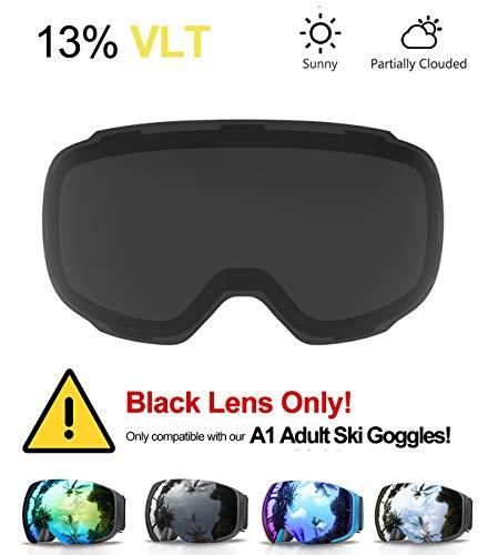 eDriveTech Skibrille, Ski Snowboard Brille Brillenträger Schneebrille Snowboardbrille Verspiegelt- Für Skibrillen Damen Herren -OTG UV-Schutz Anti Fog Verbesserte Belüftung für Skifahren, Snowboarden