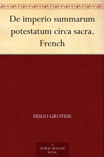 Couverture du livre De imperio summarum potestatum circa sacra. French