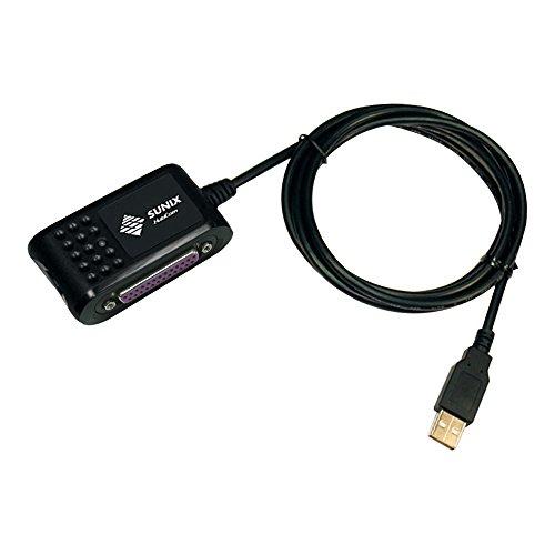 Sunix UTP1025B USB 1.1 auf parallel LPT Drucker Konverter, A Stecker auf Sub-D 25 Pin Buchse