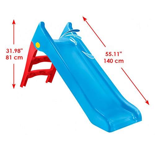 Woopie Kinder Wasserrutsche Outdoor Garten Kinderspielzeug für Kleinkinder Große Folie für Kleinkindspielzeugaktivitäten … (Blau, Large)