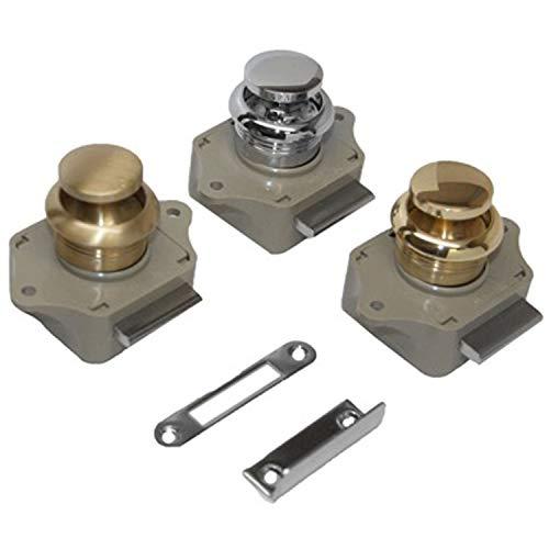 Sea-Dog 224300-1 Push Button Rim Latch - #6 Rh,Chrome