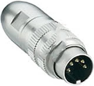 Lumberg 0332 05-1 , connector, circular din, male locking plug w/shielding, 5 contact, ip68 watertight