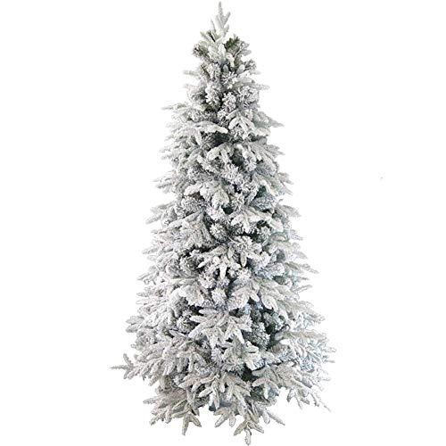ZYQHJKLHK Árbol de Navidad Flocado, 240 cm (7,8 pies) Árbol de Navidad...
