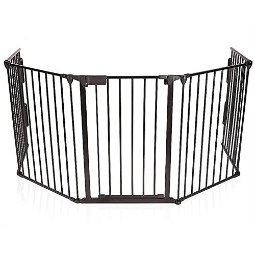 Pet Gate ,Barrera de Seguridad Cerca de seguridad de 5 piezas Bebé niños protege escaleras de seguridad Cerca de la puerta para la puerta de la puerta de la puerta de la puerta segura para niños Masco