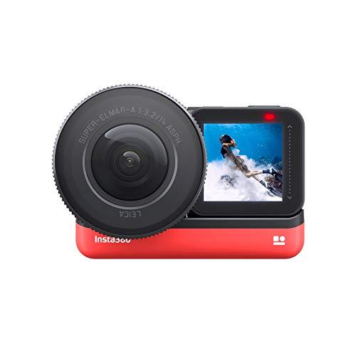 Insta360 One R 1-Inch Edition Diseñada conjuntamente con Leica - Cámara de acción 5.3K 30fps con Sensor de 1 Pulgada, 4K 60fps, Estabilización, IPX8 Impermeable, 19MP