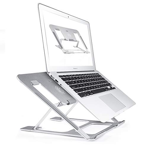 Ming Haidi Laptop Stand,Update Version 6-Level Adjustable Laptop Stand Aluminum Ventilated Laptop Holder,Portable & Foldable Laptop Stand,Laptop Holder Compatible with 7 inch to 15 inch Laptop