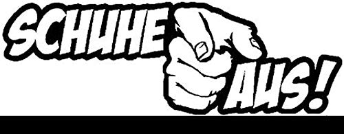 myrockshirt Schuhe aus 25 cm Finger Aufkleber für Scheibe, Lack, Hochleistungsfolie, UV& Waschanlagenfest`+ Bonus Testaufkleber Estrellina-Glückstern, waschanlagenfest,Profi Qu