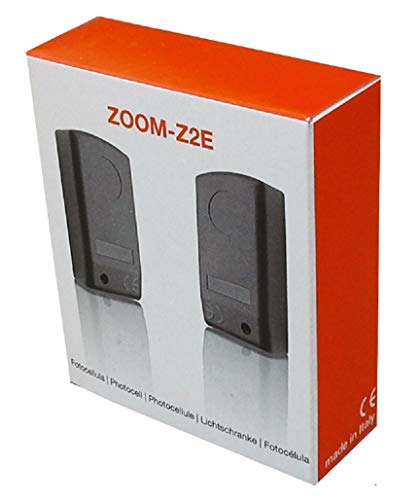 Nologo Zoom-Z2E - Fotocélulas para puerta, color negro