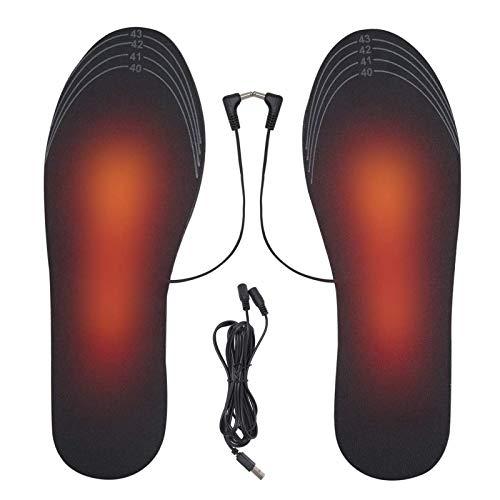 NXL Plantillas Calefactables Eléctrico, USB, Recargable, para Calzado, Calzado, Calzado, para Hombres,...
