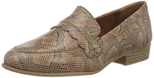 Tamaris Damen 1-1-24215-24 Slipper, Braun (Taupe Snake 371), 37 EU