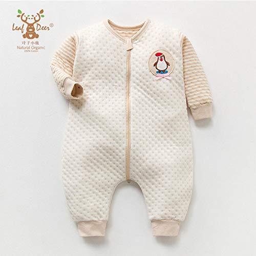 Baby Kid peuter fleece slaapzak, kleur katoenen slaapzak-gebroken witte beer_The, baby inbakeren deken wandelwagen wrap
