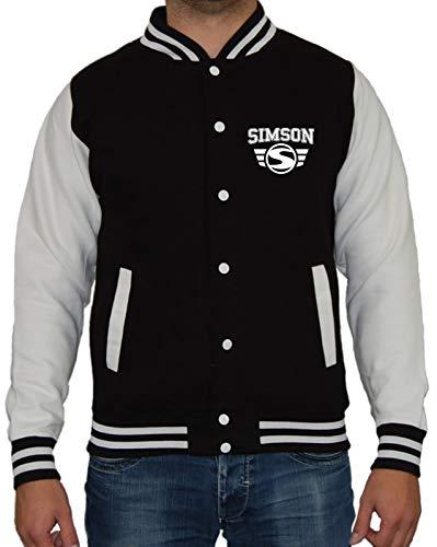 Artshirt Factory Simson University College Jacke, Farbe: Schwarz/Weiß, Größe: 2XL