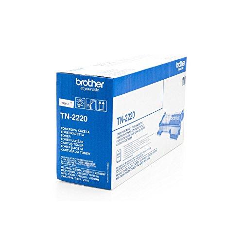 Original Brother TN-2220 /, für HL-2250 DN Premium Drucker-Kartusche, Schwarz, 2600 Seiten