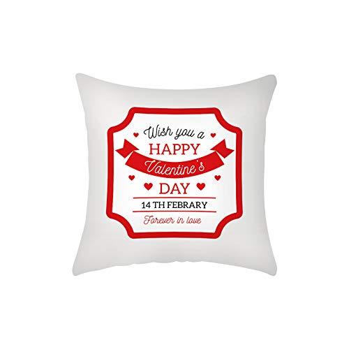 Fundas de almohada para el día de San Valentín, color rojo y negro, a cuadros, regalo romántico, citas de amor, fundas de almohada para decoración del hogar, fundas de almohada de 45,7 x 45,7 cm