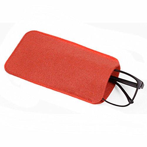 AchidistviQ Mode weiche Wolle Brillen Lesebrille Stift Tasche Brillentasche Red
