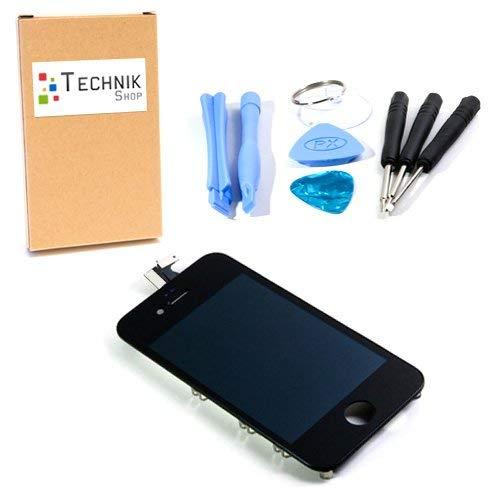 TechnikShop Display für iPhone 4S schwarz mit Werkzeug - komplett mit Gitter