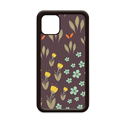 Bruin Blad Bloem Plant Verf voor Apple iPhone 11 Pro Max Cover Apple Mobiele Telefoonhoesje Shell, for iPhone11 Pro Max