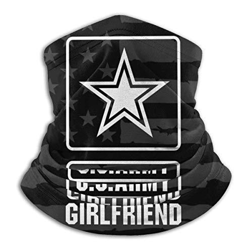 XXWKer Microfibre Chapeaux Tube Masque Visage Tour de Cou Cagoule, Proud US Army Girlfriend Fleece Neck Warmer Neck Warmer Winter Neck Warmer