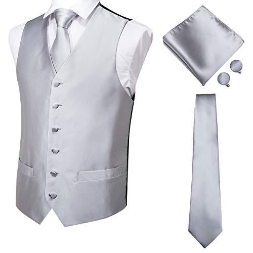 Solido Nero Gilet Panciotto Suit o Smoking Matrimonio Festa Ballo