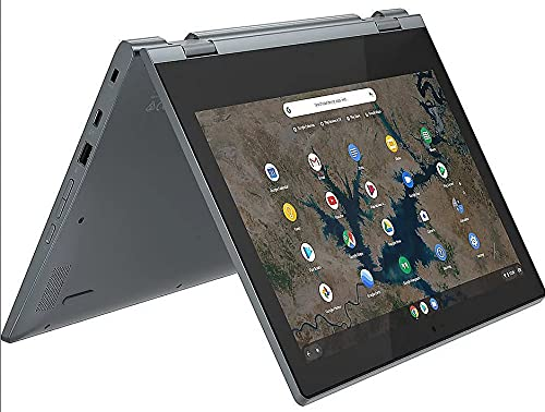 Lenovo (11,6 Zoll HD+) ChromeBook (1.2kg), großer 10h Akku, Quad Core CPU 2.10 GHz, 4GB RAM, 64GB eMMC SSD, Power VR GX6250, Webcam, BT, USB 3.0, WLAN, ChromeOS Laptop #6758 - 2