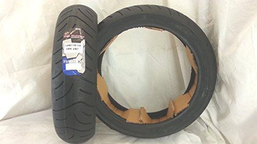 1 pneu 120/70-14 61 H RINF.VEE RUBBER pneumatique T-MAX TMAX 500 - LIBERTY