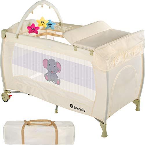 TecTake Culla lettino da viaggio campeggio regolabile in altezza bebé box - disponibile in diversi colori - (Beige | No. 402204)