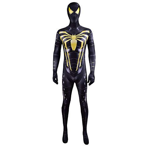 ZYZQ Anti Ock Spider-Man Cosplay Disfraz, The Avengers Superhero Jumpsuit Body Halloween Fiesta de cumpleaos Performance Props Traje 3D Lycra Spandex Tela,Black-Men~XL(170~175cm)