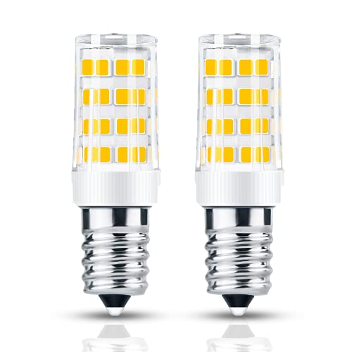 E14 Lampadina LED, 4W Lampadina Cappa Equivalenti a 40W Alogeno, Bianca Calda 3000K, 400LM, Non Dimmerabile, per Frigorifero, Macchina da Cucire, Lampada di Sale, Cappa e luce Notturna, 2 Pezzi