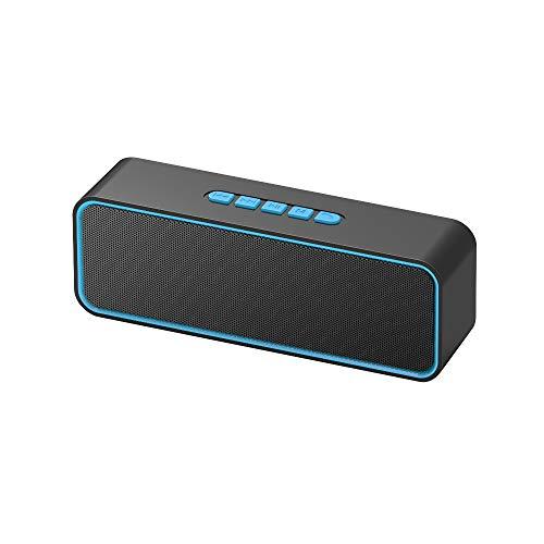 Kolaura Drahtloser tragbarer Lautsprecher, TWS Bluetooth 5.0-Lautsprecher mit 3D-Stereo-HiFi-Bass, 1500-mAh-Akku, 12 Stunden Spielzeit (Blau)