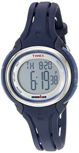 (タイメックス) Timex ミディアムサイズ アイアンマン スリーク 50 ラウンドシリコンストラップウォッチ Womens Standard ダークブルー
