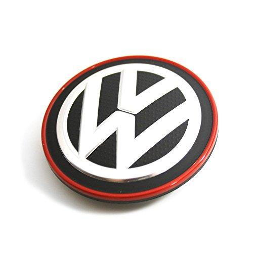 1 piece Cache-Moyeu embellisseur Chromé Rouge Original Volkswagen, 5G0601171