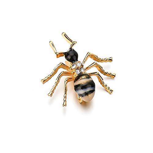 QYTSTORE Pasadores de Broche de Esmalte de Hormigas, alfileres y alfileres de Mujeres, Ramos de Insectos de la Moda para Hombres Hombres Broche Elegante y romántico (Color : Small Ant)