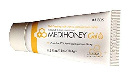 Derma Sciences 31805 Medihoney Dressing Gel, 0.5 oz Tube (Pack of 10)