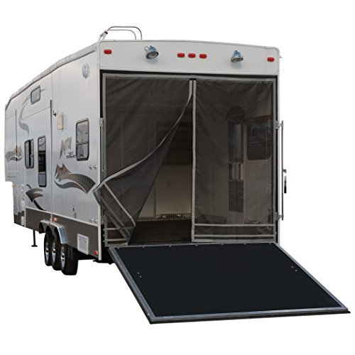 "Classic Accessories 79994 Over Drive Toy Hauler Screen, Rear Opening 90.5""H, Compatible with Steel Frames Black/Gray"
