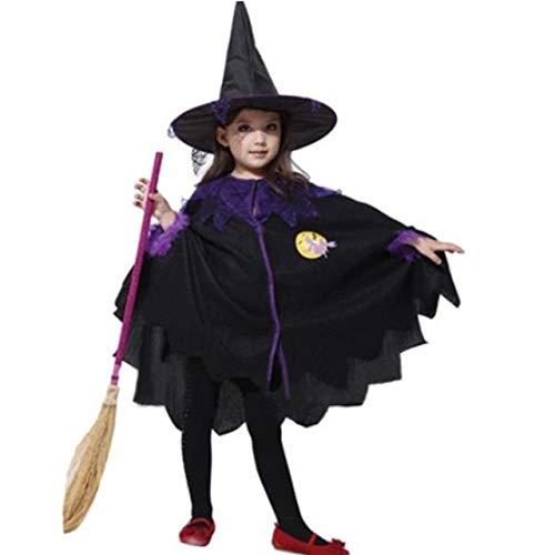WSJGSNYGMM Halloween kostuum voor kinderen baby meisjes kinderen vampier heks kostuum meisjes cosplay carnaval party prinses kostuum fantasie XXL (hoogte 140 – 150 cm zwart D