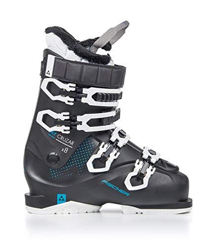Fischer My Cruzar X8.0 Thermoshape Flex 80 Chaussures de Ski pour Femme, Schwarz/Blau, MP25.0 EU39...