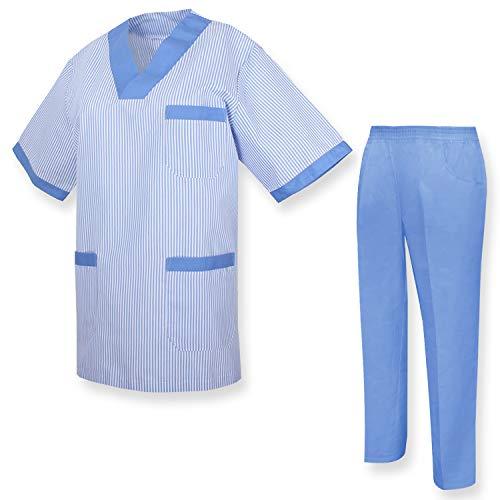 MISEMIYA - Unisex-Schrubb-Set - Medizinische Uniform mit Oberteil und Hose UNIFORM - X-Small, Hygienesets T817-4 Celetes