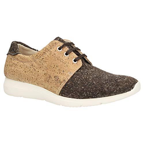 Zweigut® -Hamburg- echt #408 PeTA-Approved vegane Kork-Sneaker mit Flexibler Laufsohle Unisex Schuhe, Schuhgröße:41, Farbe:braun-Kork