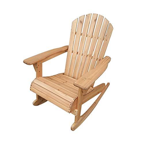 Soddyenergy Trueshopping Bowland Adirondack Schaukelstuhl aus Holz für Garten oder Terrasse