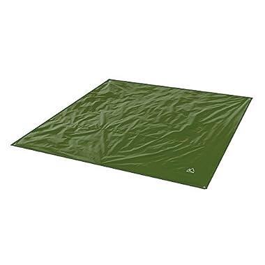 Terra Hiker Camping Tarp, Water proof Picnic Mat, Mutifunctional Tent Footprint with Drawstring Carrying Bag for Picnic, Hiking (Dark Green 59  x 86 )