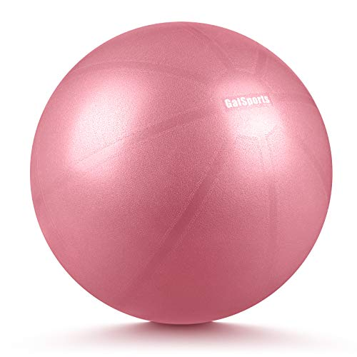 GalSports Pregnancy Birthing Ball, Yoga Exercise Birth Ball Chair for Delivery & Training & Fitness, Extra Thick Labor Ball with Quick Pump, Certified by SGS (Dusty Rose, L (58-65cm))