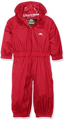 Trespass Trespass Kinder Button Regenanzug Button, Rot (Feu), 12-18 Monate