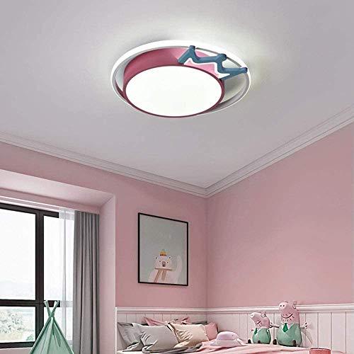 Dimbaar met afstandsbediening, cartoon-tekening, kinderkamer, kroonluchter, kinderkamerverlichting (roze), 52 cm