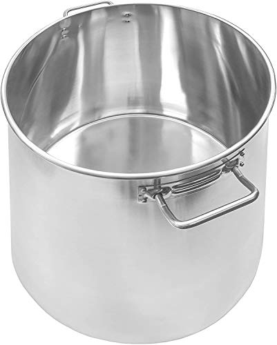 Standard Weight Stock Pot, Stainless Steel Pots with Cover, 40 Qt. Aluminum-Clad Stock Pot for Preparing Stocks and Soups (Pack of 4)