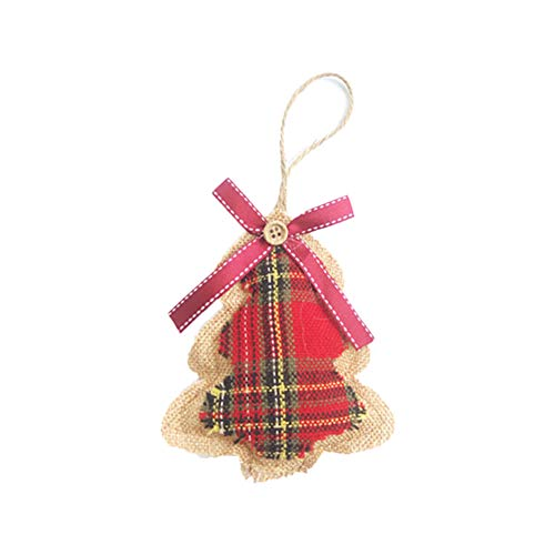 Emorias 1 PCS décorations de Noël fenêtre Pendentif Ornements pour Arbres de Noël fête Accessoires Festival 12 * 10 * 1.5cm Arbre