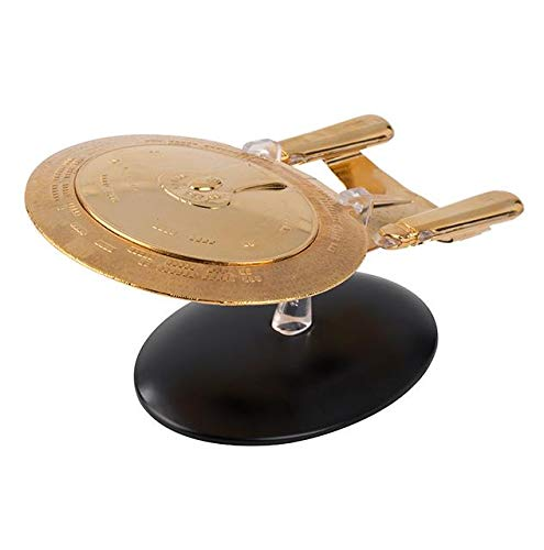 Star Trek The Official Starship Collection | Gold Plated U.S.S. Enterprise NCC-1701-D Special Edition by Eaglemoss Hero Collector