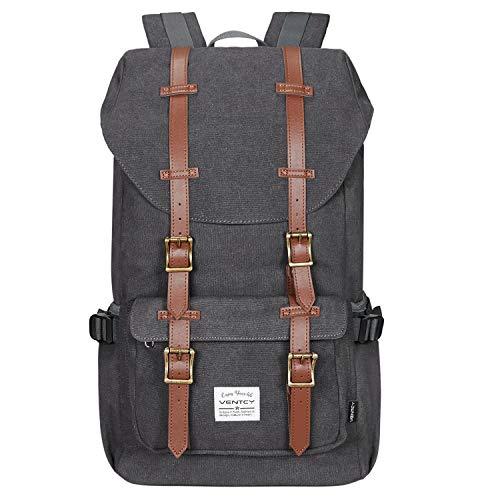 Fafada Uomo Donna Canvas Nylon Zaino per PC portatili Scuola Borse Casual Vintage retrò Tela Viaggi Trekking Backpack