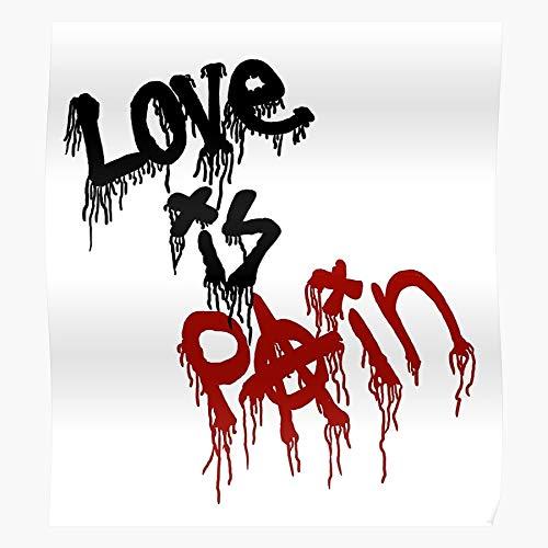 Love Is Pain Murales Mgk Graffiti Street Art Wall El mejor y más nuevo póster para la sala de decoración del hogar de arte de pared